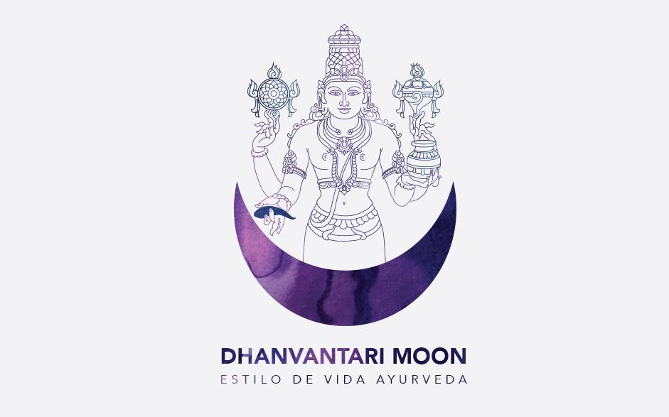 Dhanvantari Moon Logo