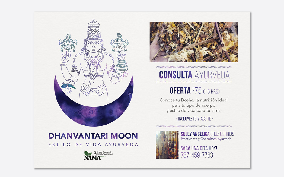 Dhanvantari Moon Consultation Flyer