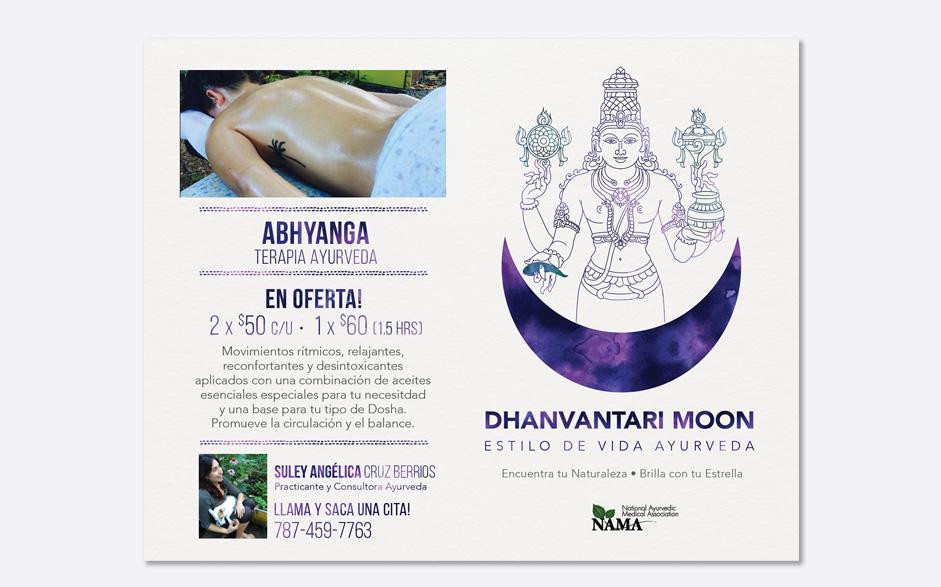 Dhanvantari Moon Abhyanga Flyer