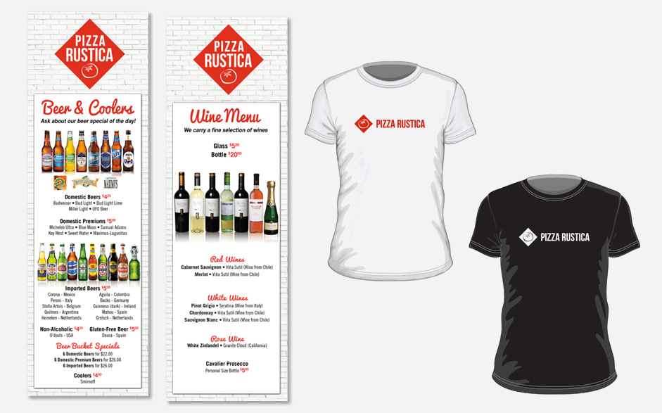 Beer & Wine Menu & Tshirts