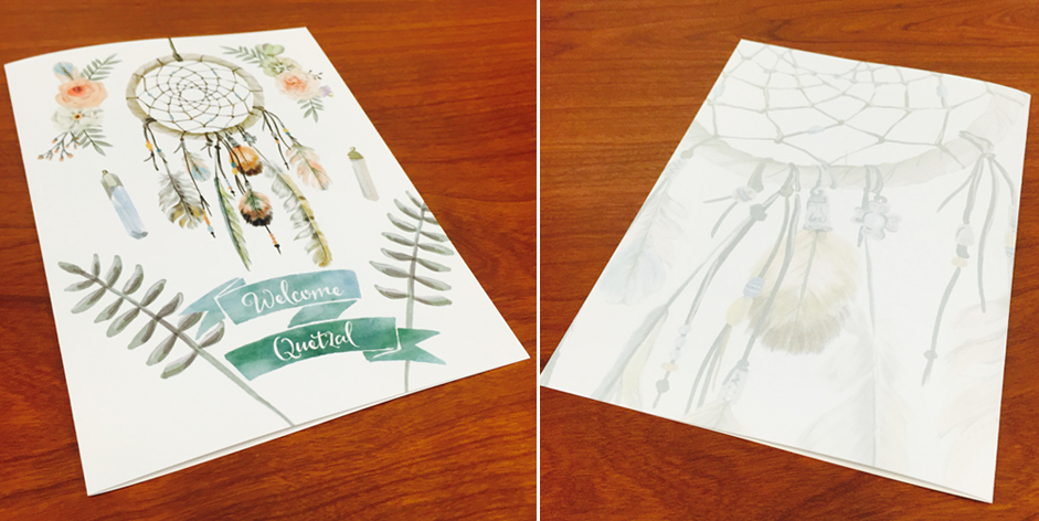Quetzal's Card Front & Back
