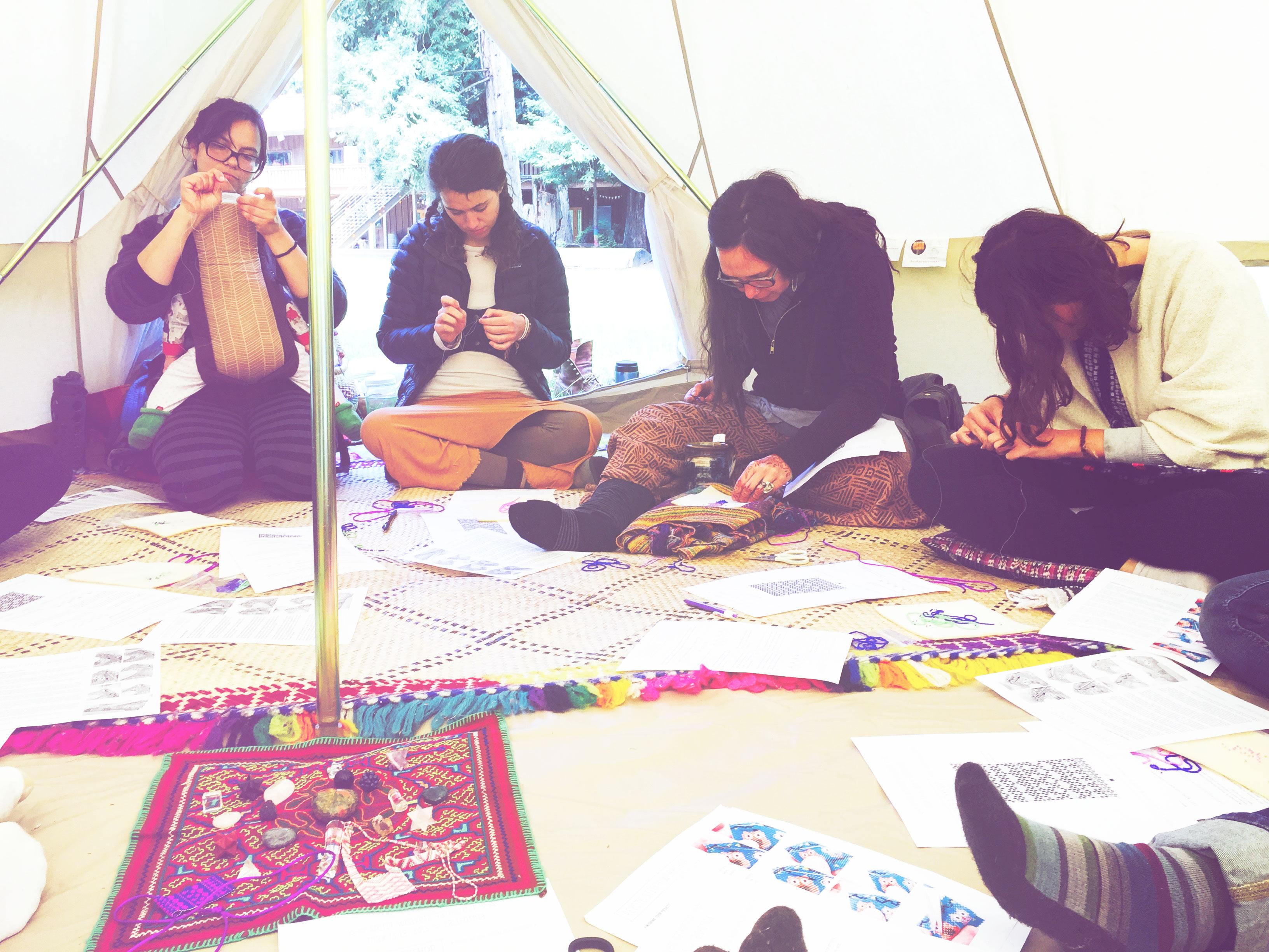 Peyote Stitch Workshop at Spirit Weavers Gathering 2015
