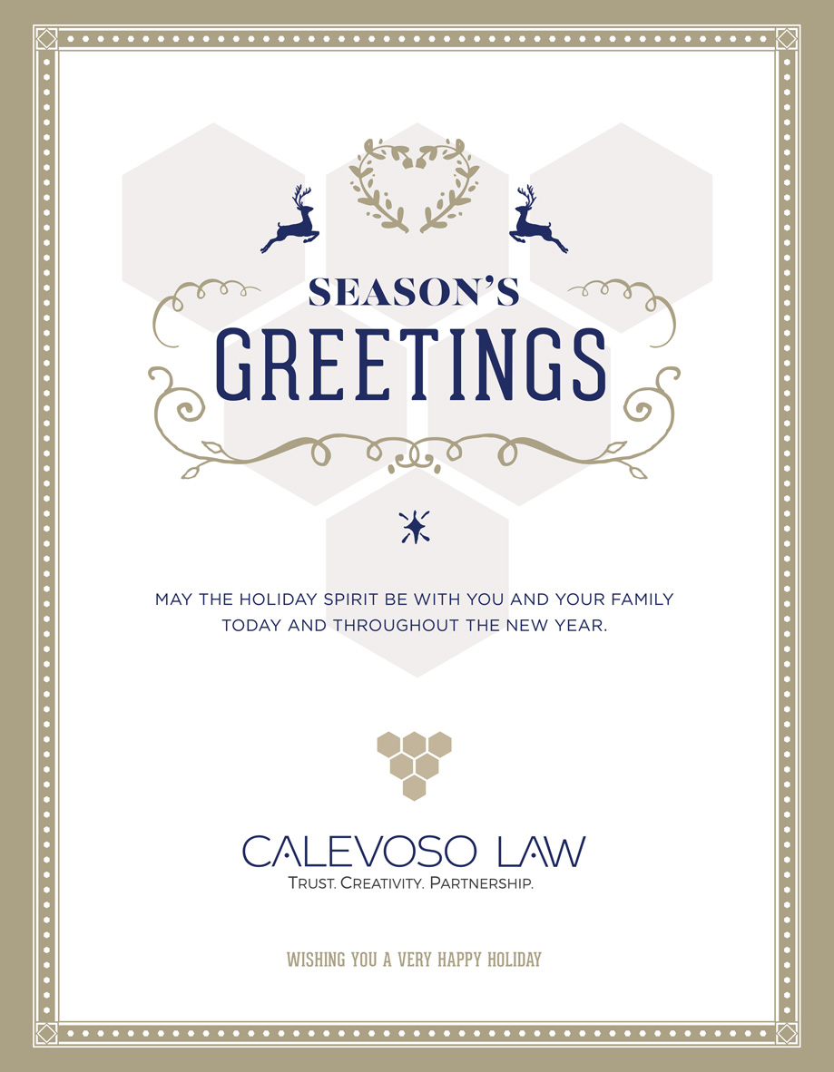 Calevoso Law Holiday Card
